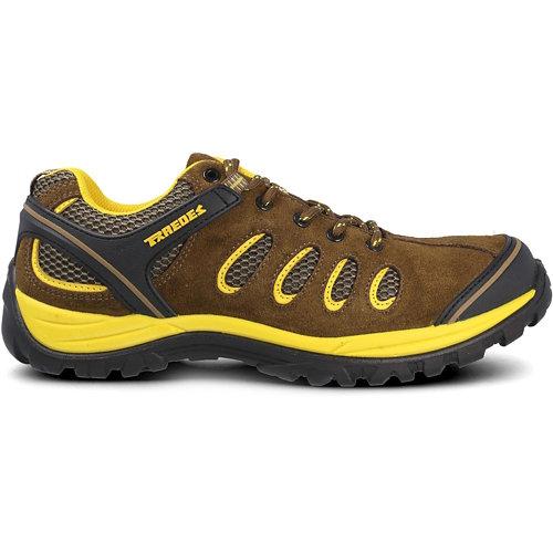 Zapato seguridad paredes, radio serraje marrón, s1p talla 45
