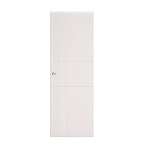 Puerta corredera lucerna uñero y condena 62,5x203 cm