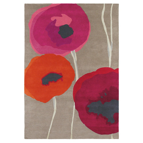 Alfombra lana sanderson poppies-red 45700 200x280cm
