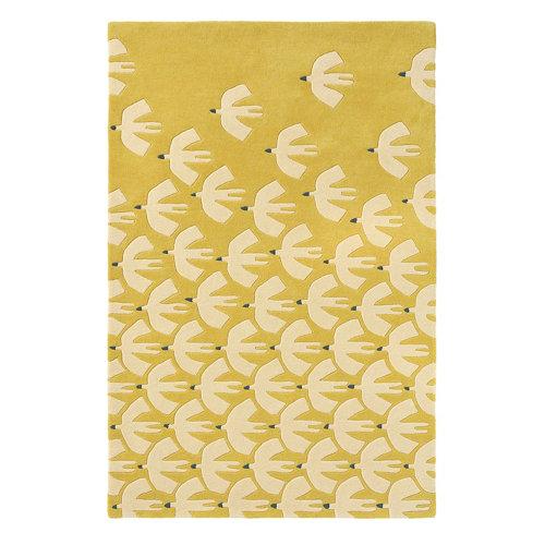 Alfombra lana scion pajaro-ochre 23906 120x180cm