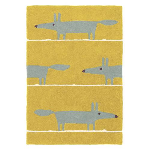 Alfombra lana scion mr-fox-musta 25306 140x200cm