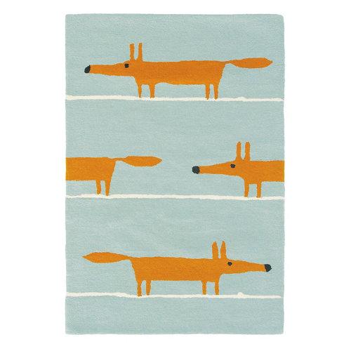 Alfombra lana scion mr-fox-aqua 25308 140x200cm