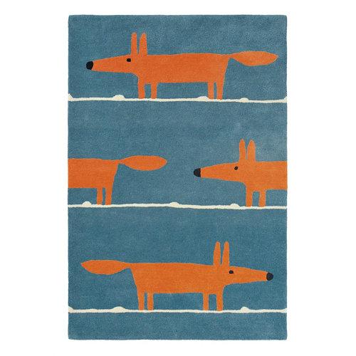 Alfombra lana scion mr-fox-denim 25318 140x200cm
