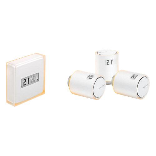 Pack termostato inteligente netatmo+3 válvulas termostáticas