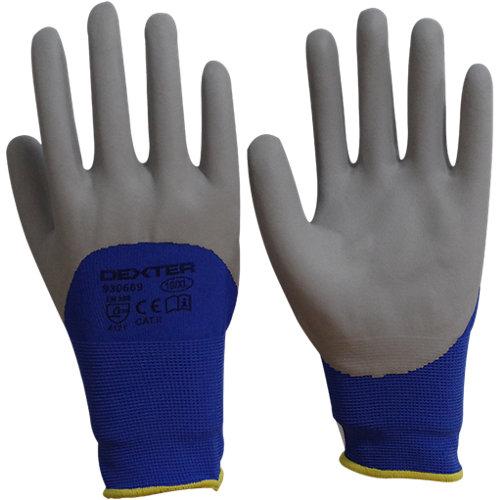 Guantes dexter nitrilo azul táctil t 8