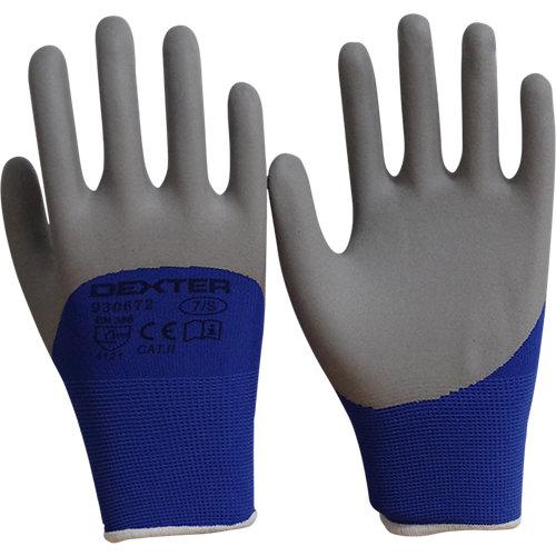 Guantes dexter nitrilo azul táctil t 7