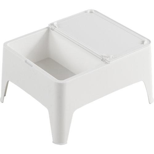 Mesa auxiliar de polipropileno alaska blanco de 58x30x48 cm