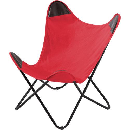 Silla de exterior de acero meribel rojo