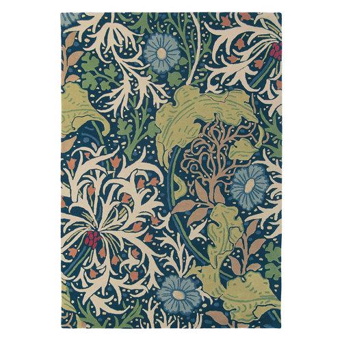 Alfombra lana y viscosa morris seaweed-ink 28008 170x240cm