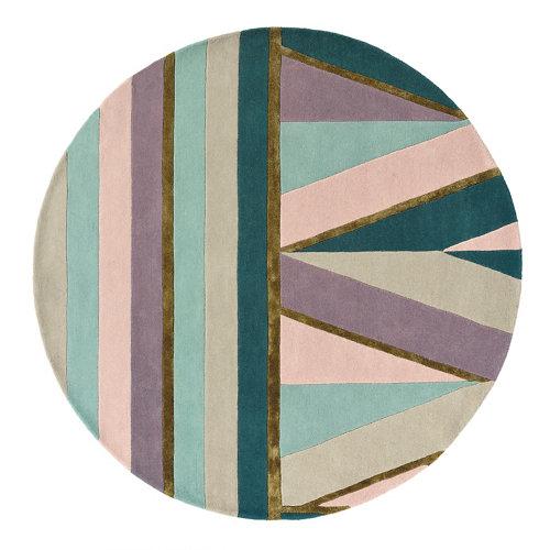 Alfombra lana y viscosa ted barker sahara-rosa 140x200cm