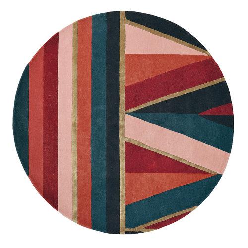 Alfombra lana y viscosa ted barker sahara-burgun 170x240cm