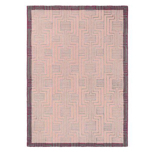 Alfombra lana y viscosa ted barker kinmo-rosa 140x200cm