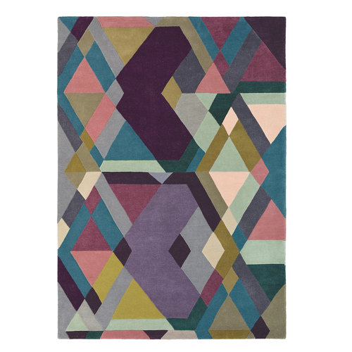 Alfombra lana y viscosa ted barker mosaic-lig-pu 140x200cm
