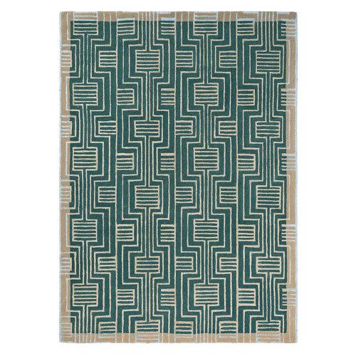 Alfombra lana y viscosa ted barker kinmo-verde 170x240cm