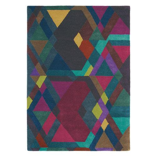 Alfombra lana y viscosa ted barker mosaic-dp-pur 140x200cm