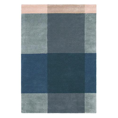 Alfombra lana y viscosa ted barker plaid-gris 804 200x280cm