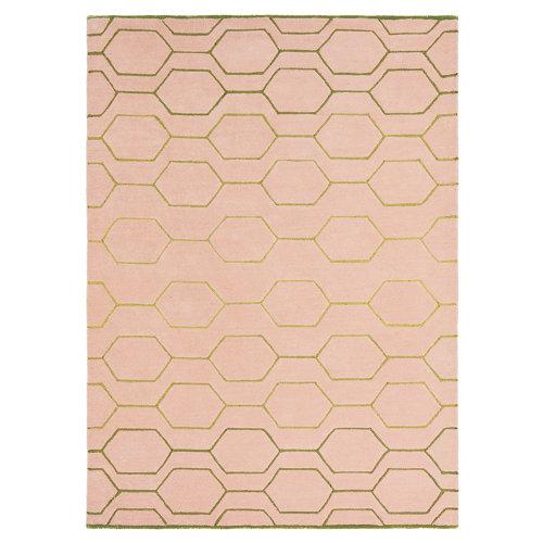 Alfombra lana y viscosa wedgewood arris-rosa 37302 120x180cm