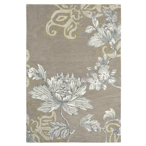 Alfombra lana y viscosa wedgewood fable-fl-gris 120x180cm