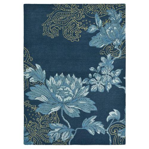 Alfombra lana y viscosa wedgewood fable-fl-azul 170x240cm