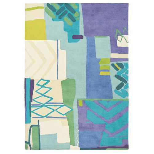 Alfombra lana azulbellgray bell gray atlas 19808 170x240cm