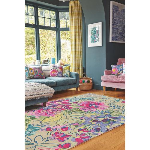 Alfombra lana azulbellgray bell gray ines-jardin 170x240cm