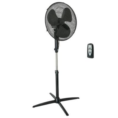 Ventilador de pie metal EQUATION Altona Negro man 45W