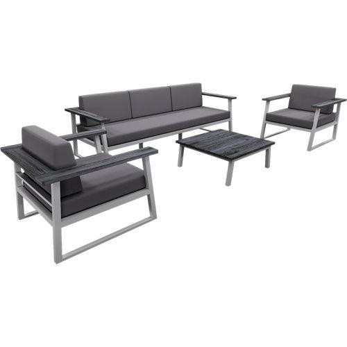 Conjunto de muebles de exterior verona de aluminio para 5 comensales