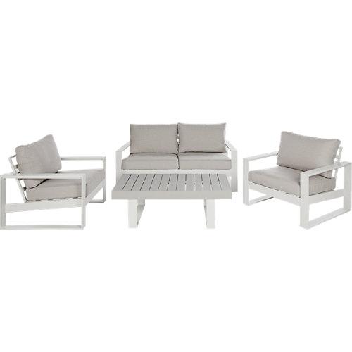 Conjunto de muebles de exterior las vegas de aluminio para 4 comensales