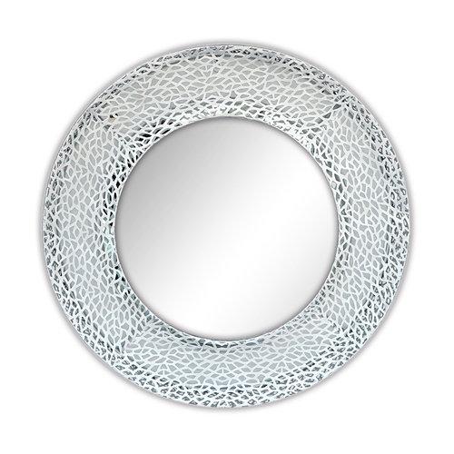 Espejo redondo doble plata plata 60 x 60 cm