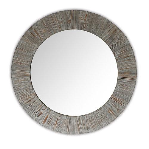 Espejo redondo madera soul plata 70 x 70 cm