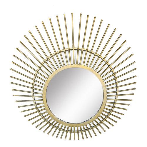 Espejo redondo tiby dorado 77 x 77 cm