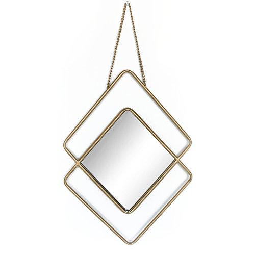 Espejo rombo sastre dorado 49.5 x 35.5 cm