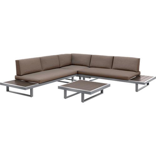 Conjunto de muebles de exterior albany de aluminio para 5 comensales