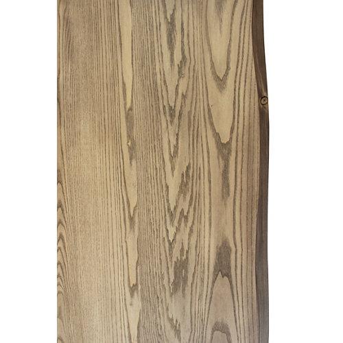 Tablero para mesa rechapado en madera de fresno 80x120x4,8 cm lados forma árbol