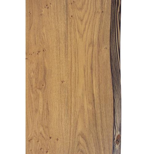 Tablero para mesa rechapado en madera de roble 45x120x4,8 cm lados forma árbol