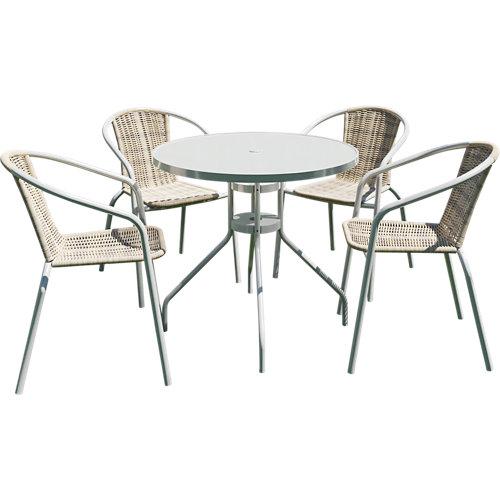 Conjunto de muebles de terraza elia de acero para 2 comensales