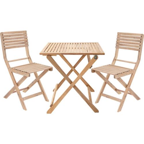 Conjunto de muebles de terraza solis de madera para 2 comensales