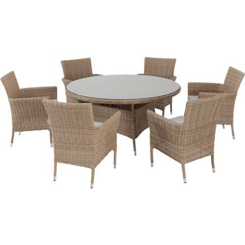 Conjunto de muebles de exterior costa rica de aluminio para 6/8 comensales