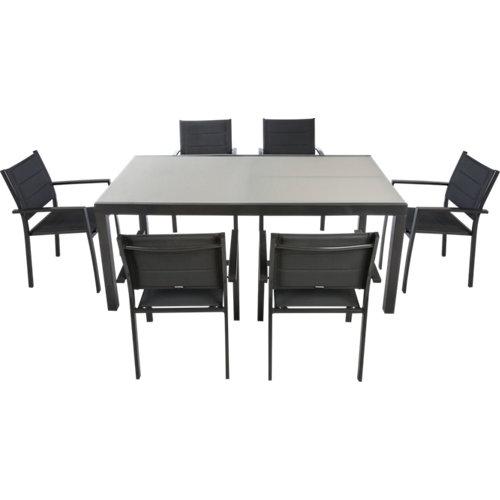 Conjunto de muebles de exterior aquila extensible de aluminio para 6 comensales