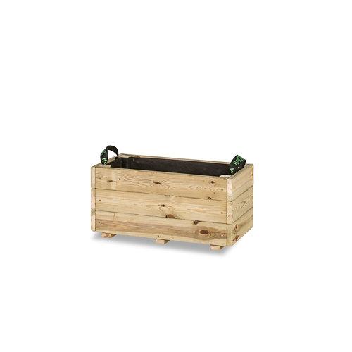 Jardinera rectangular ghio 60x30x30cm de hortalia