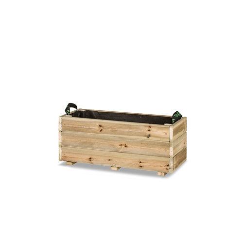 Jardinera rectangular ghio 70x30x30cm de hortalia