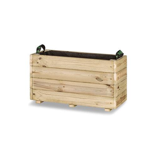 Jardinera rectangular ghio 70x30x40cm de hortalia