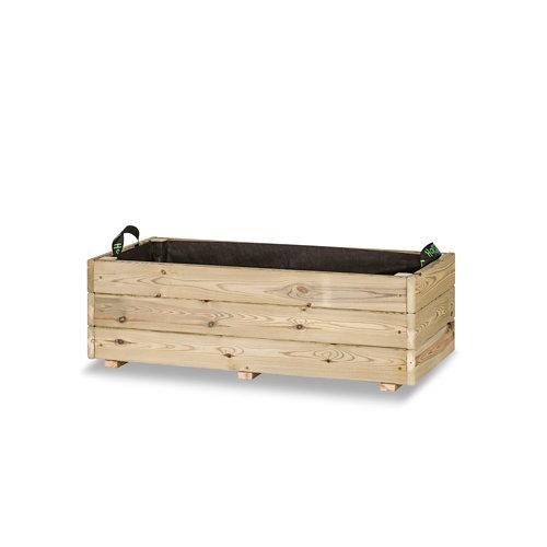 Jardinera rectangular ghio 90x40x30cm de hortalia