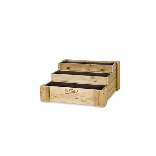 Huerto urbano de suelo box stairs 80 de hortalia