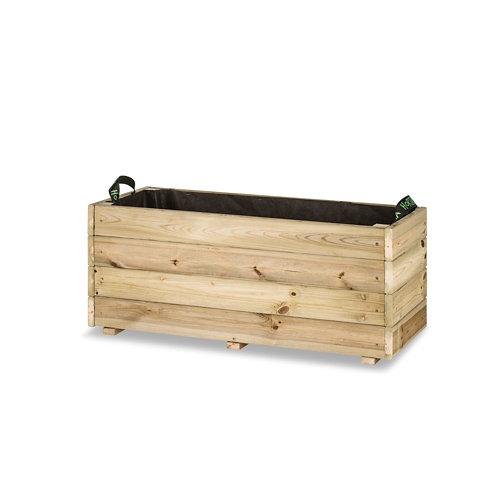 Jardinera rectangular ghio 90x40x40cm de hortalia