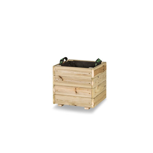 Jardinera cuadrada pun 40x40x40cm de hortalia