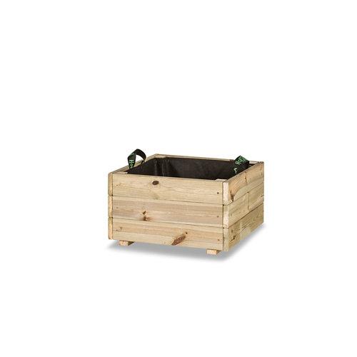 Jardinera cuadrada pun 50x50x30cm de hortalia