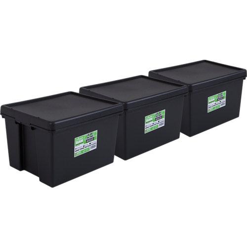 Pack 3 cajas bambox negra 40x32x50 cm 45l