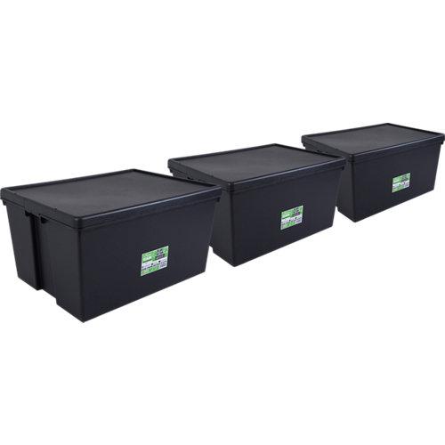Pack 3 cajas bambox negra 59x42x80 cm 150l