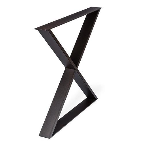 1 pata fija de acero para para muebles y mesas hasta cm